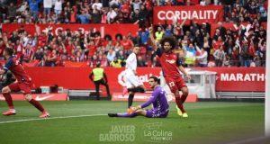 El primer gol del Sevilla FC ante Osasuna.