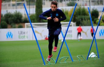 Maxime López, objetivo del Sevilla FC, en un entrenamiento