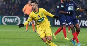 Imran Louza, en la lista de fichajes del Sevilla FC, celebrando un gol con el Nantes