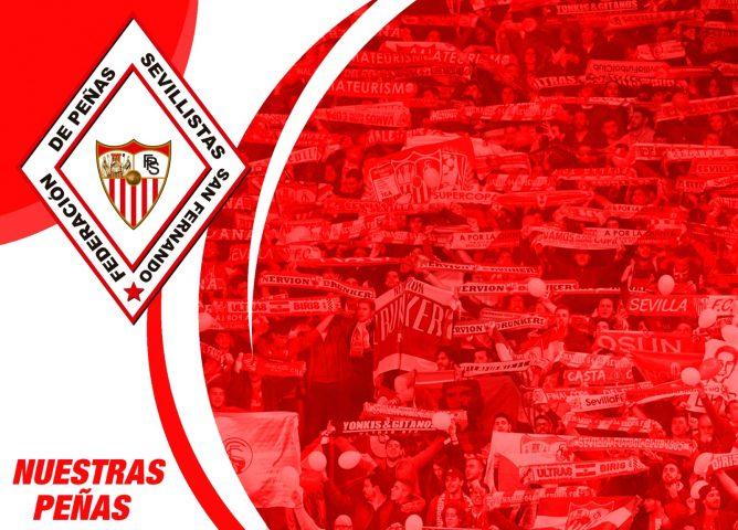 La Federación de Peñas Sevillistas anuncia un plan de apoyo para las peñas del Sevilla FC