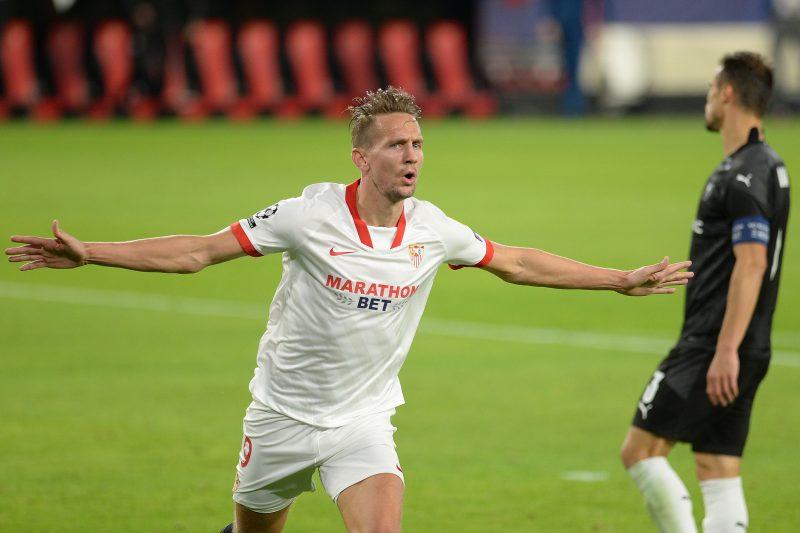 Luuk de Jong sevilla fc gol celebración
