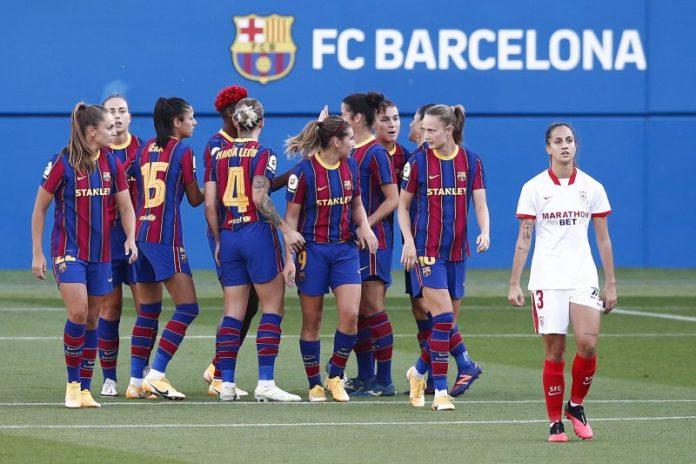 El Sevilla FC sale goleado en el partido frente al FC Barcelona