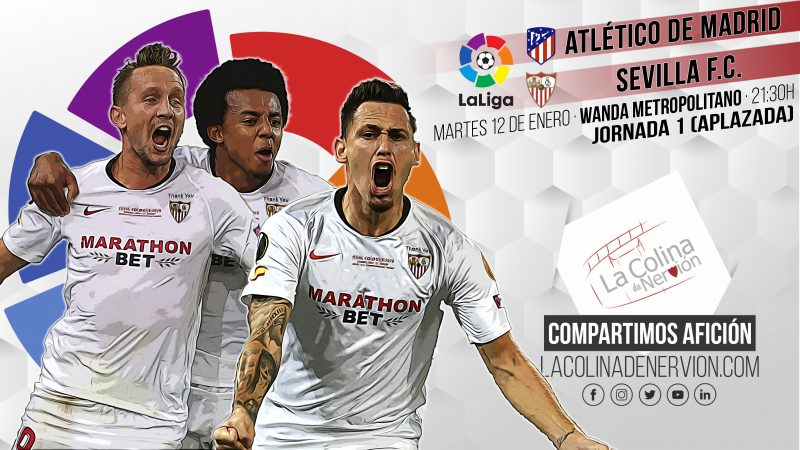 Imagen de la previa del partido entre el Sevilla FC y el Club Atlético de Madrid
