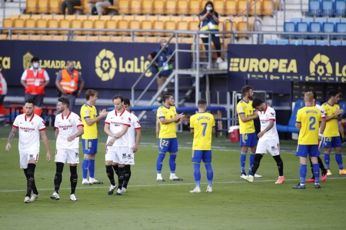 Ninguna derrota del Sevilla FC ante el Cádiz en el Sánchez-Pizjuán