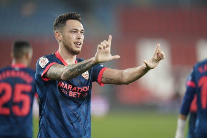 Ocampos pone al Sevilla FC en semifinales de la Copa del Rey