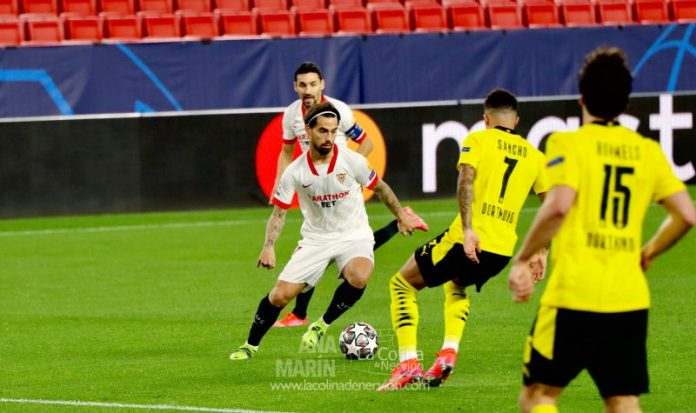 El Sevilla FC sucumbe ante un gran Dortmund pero guarda opciones para la vuelta