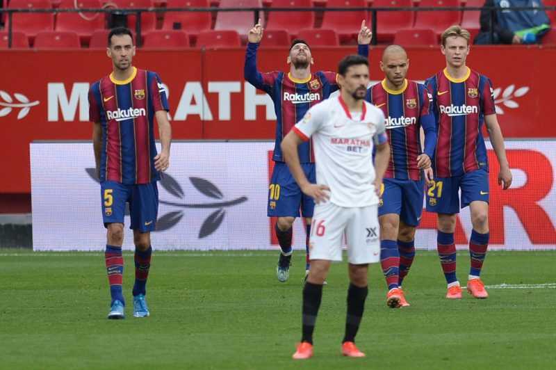 Jesús Navas, en la derrota del Sevilla FC ante el FC Barcelona