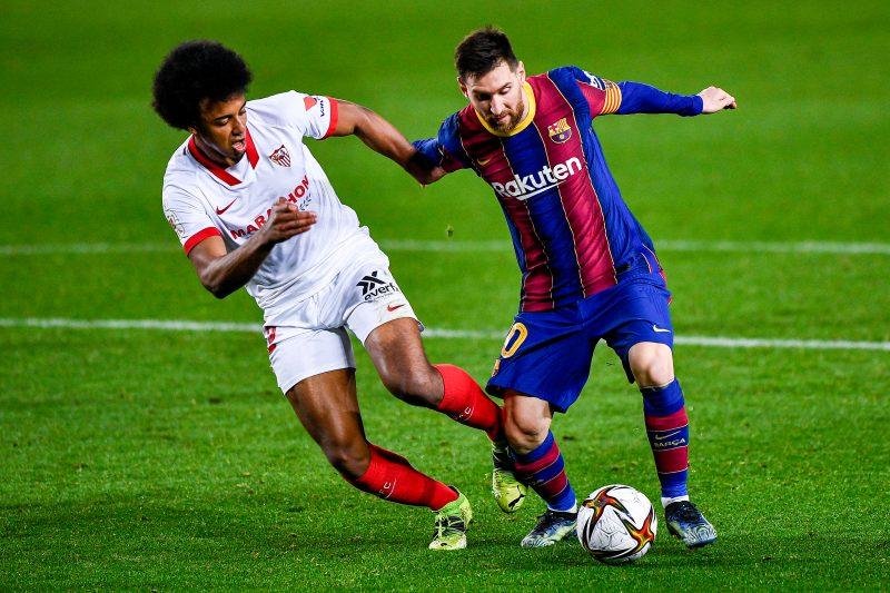 Imagen del partido entre FC Barcelona y Sevilla FC