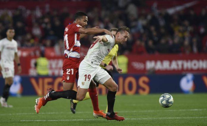 De Jong, goleador del último partido que enfrentó al Sevilla FC contra el Granada CF en Nervión