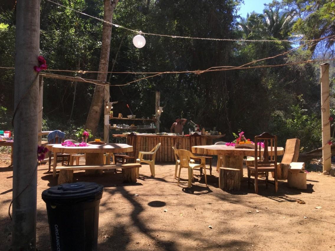 The New bar at La Colina