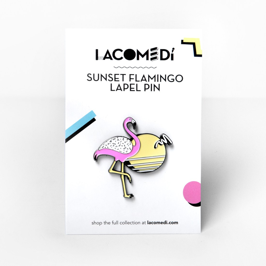 Sunset Flamingo pin by La come Di