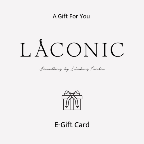 Laconic jewellery gift card