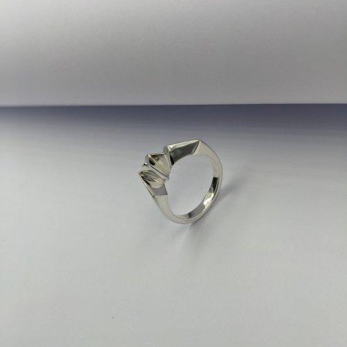 fracture silver ring