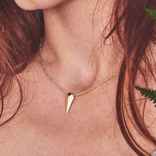 Facet gold drop pendant