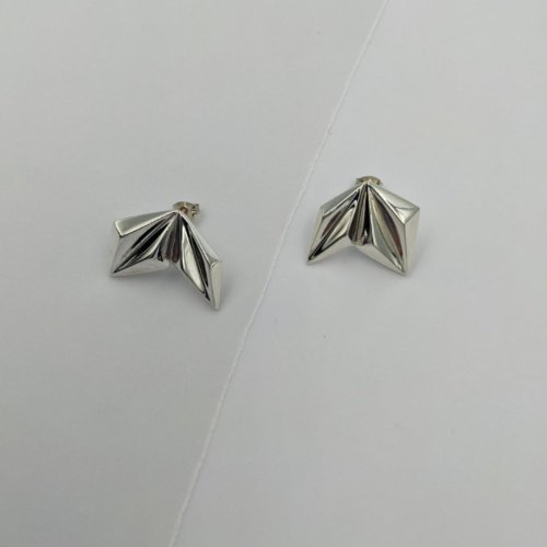 Valley silver mismatched stud earrings