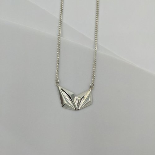 Valley silver pendant necklace