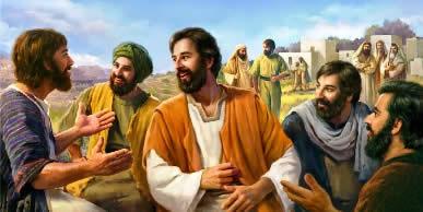 Jesus Comparte con sus discipulos
