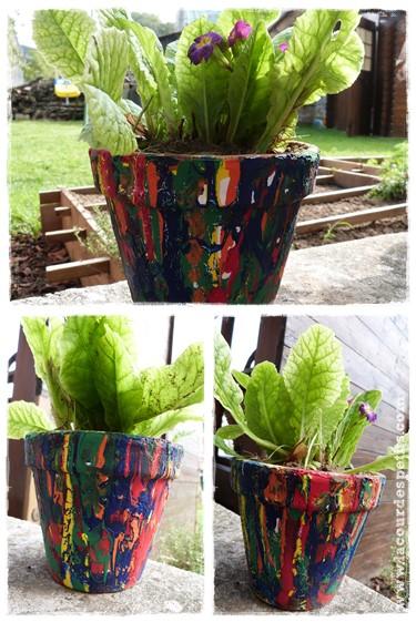 Un Cadeau Fabriquer Par Les Enfants Le Pot De Fleurs