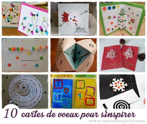 2 Cartes De Voeux Pour La Maternelle La Cour Des Petits