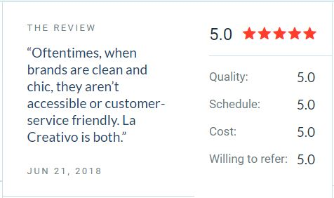 la creativo review and feedback from customers