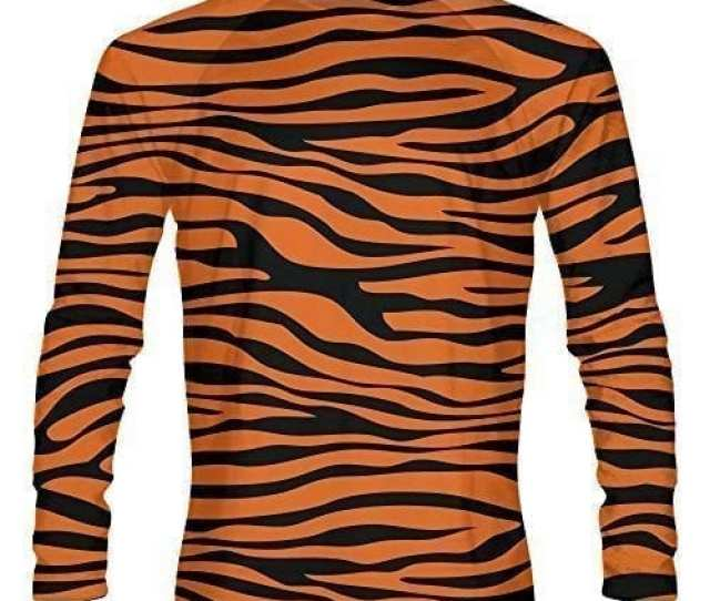 Tiger Striped Long Sleeve Shirts Right Left