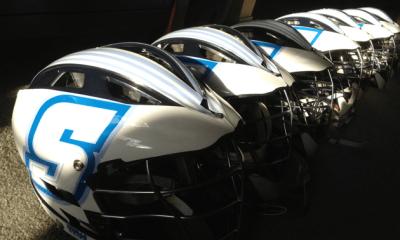 Gorilla Wrapz Helmet Decals for Sonoma State Lacrosse