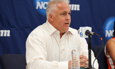 May 27, 2012; Stony Brook NY, USA; Syracuse Orange head coach Gary Gait at the press conference after the 2012 NCAA Division 1 Womens Lacrosse Championship against the Northwestern Wildcats at LaValle Stadium. Northwestern won 8-6. Mandatory Credit: Anthony Gruppuso-USA TODAY Sports