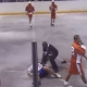 Lacrosse Fight, Silences the Crowd