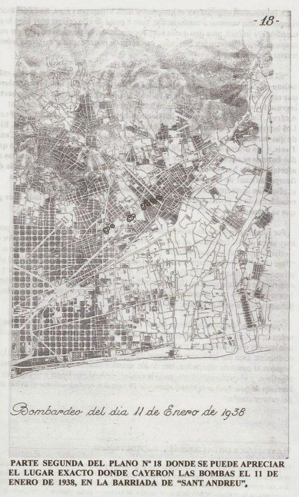 plano 18 bombardeo de barcelona