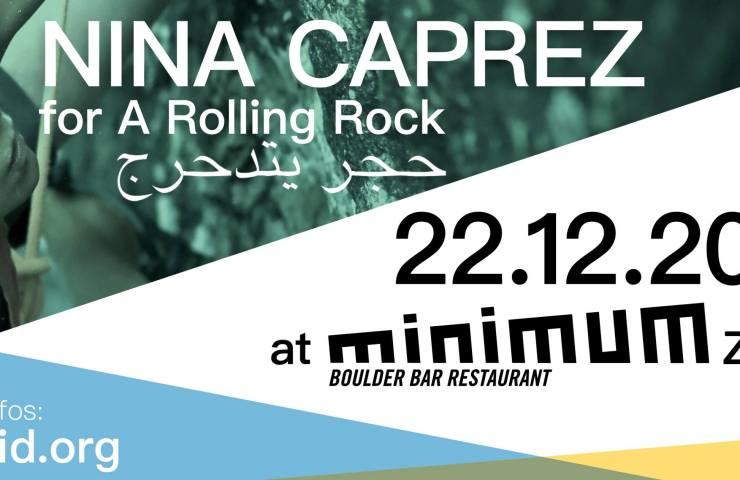 Bouldern mit Nina Caprez im Minimum - eine Aktion von ClimbAID