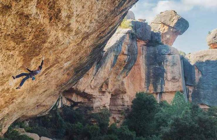 Piotr Schab klettert Victimas Perez in Margalef