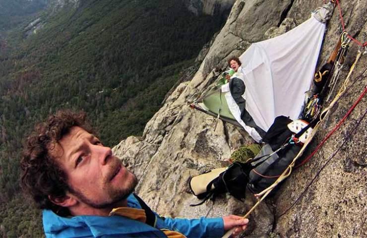Silvan Schüpbach und Dimitri Vogt in der Muir Wall - Yosemite
