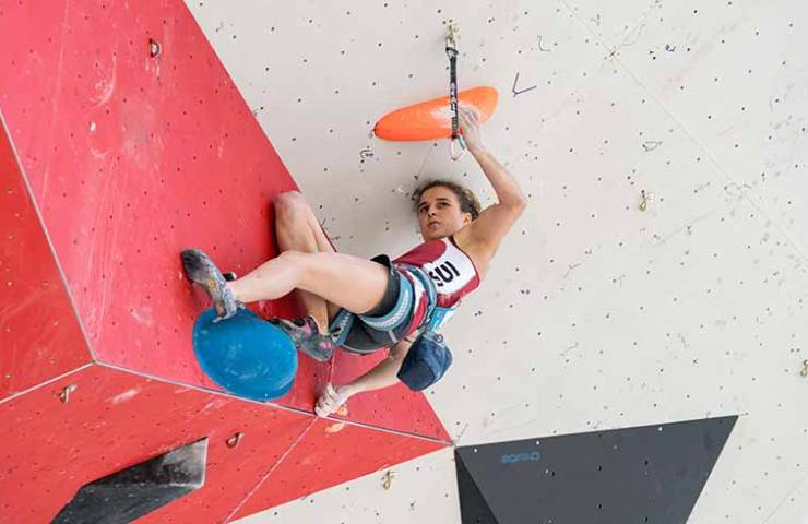 Anne Sophie Koller misses the final at the IFSC World Cup in Chamonix