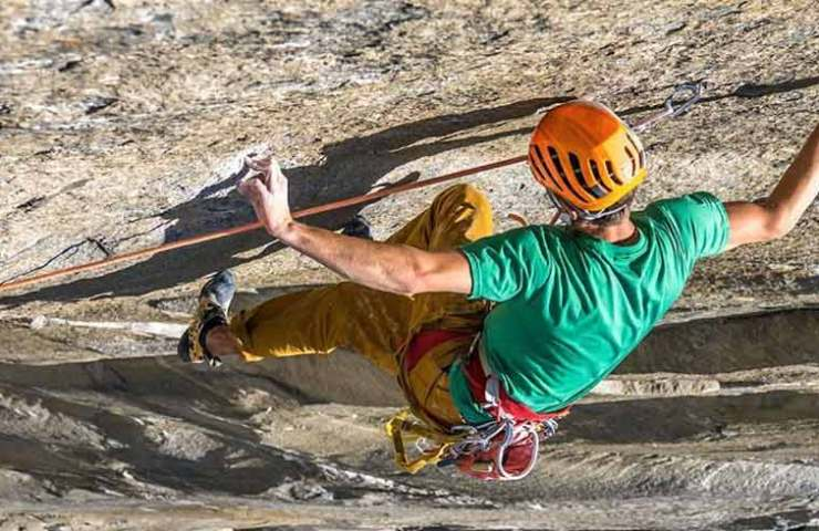 Jorg Verhoeven climbs Dihedral Wall in the Yosemite Valley