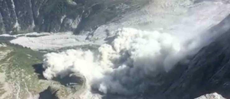 Massiver Felssturz und Murgang in Bondo - Bergell