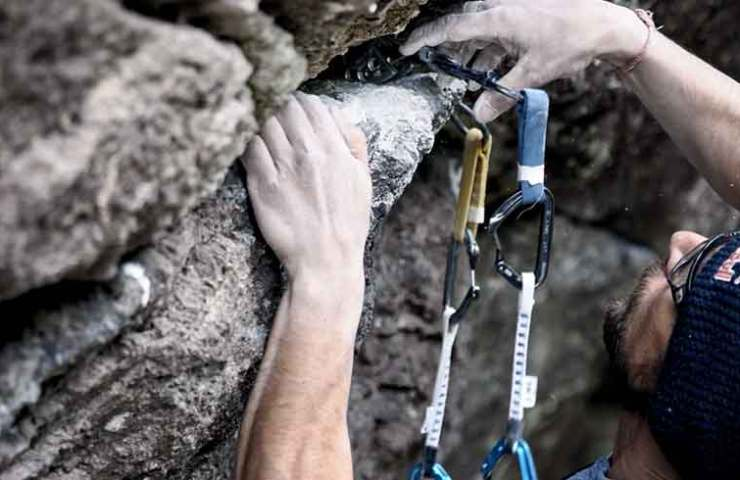 Video about Bernd Zangerl's inspection of the probably heaviest Trad route