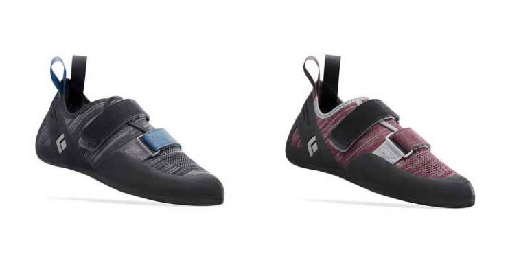 The climbing shoe Momentum for men (left) and ladies (right)