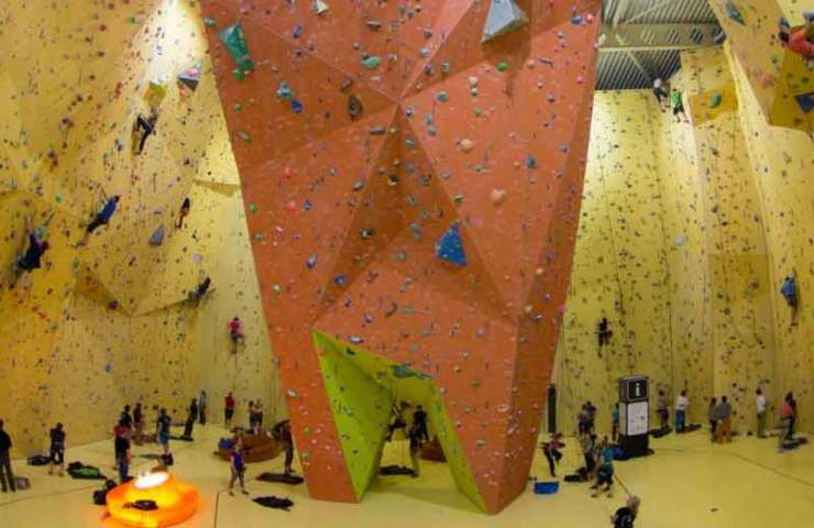 The St. Gallen climbing hall will soon only allow semi-automatic security devices - image infocard.ch