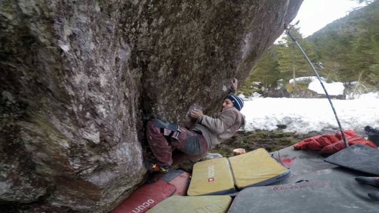 David von Allmen en Boulder Un viaje inesperado en el valle de Murg