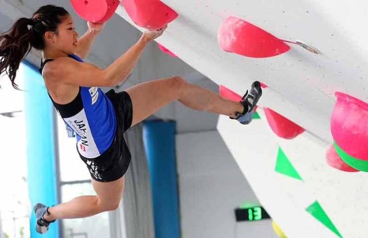 Japanischer Doppelsieg am Boulderweltcup in Chongqing