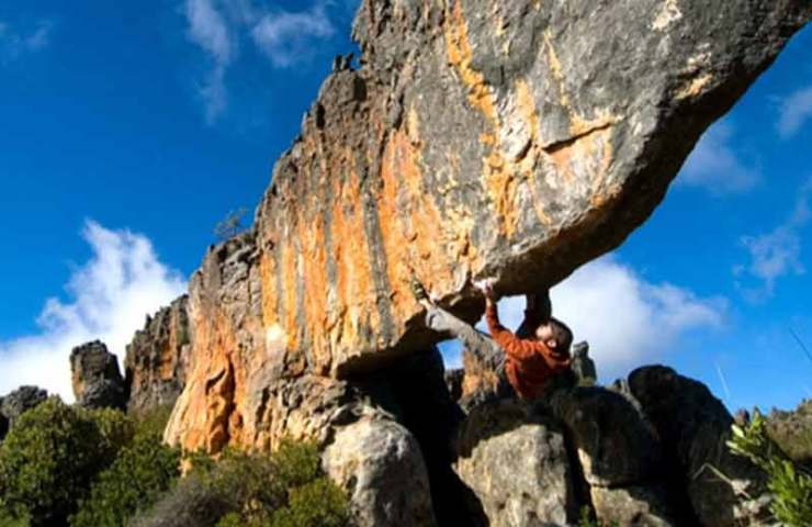 New topo for the bouldering area Rocklands in South Africa