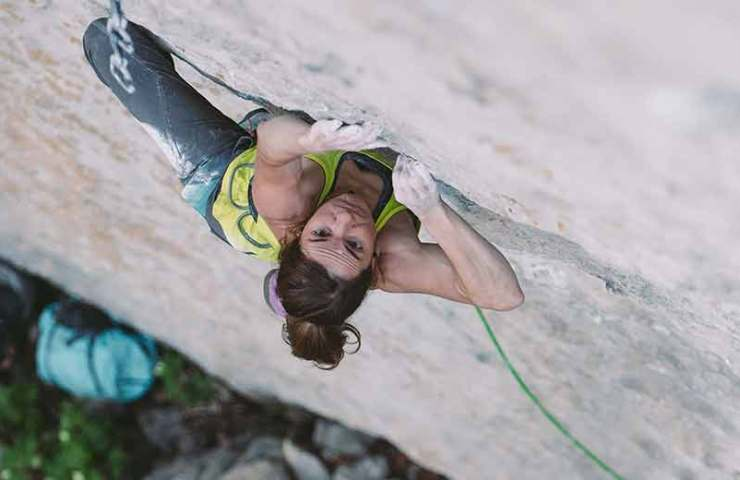 Video über Barbara Zangerls Begehung von Speed intégrale (9a)