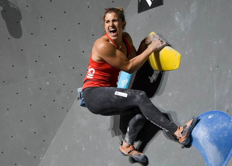 The discipline bouldering in the combined format - Olympic Combined (picture Expa Pictures).