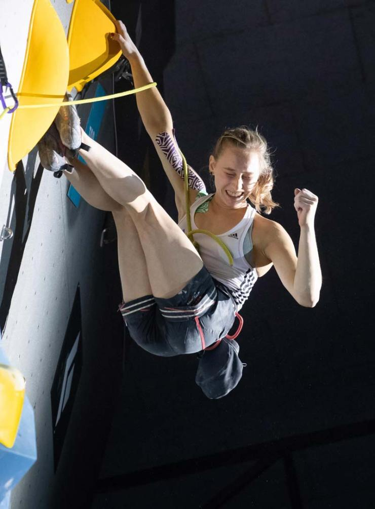 Janja Garnbret gewann bei jedem Wettkampf der Saison entweder Gold oder Silber