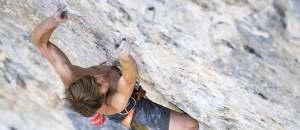 Samuel Ometz erfolgreich am Seil: Cabane au Canada (9a)