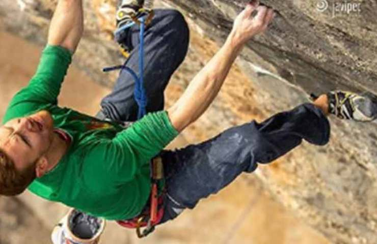 Jakob Schubert climbs the 9b route Neanderthal in second place