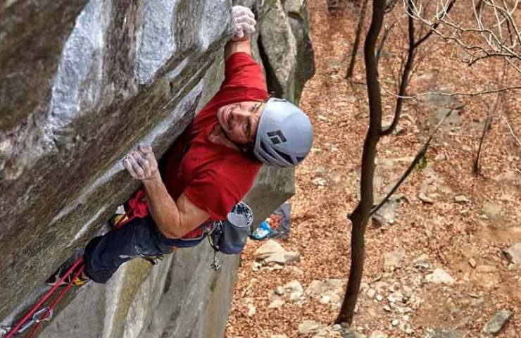 Jacopo Larcher succeeds in Cadarese the first ascent of the heaviest Trad route in the world