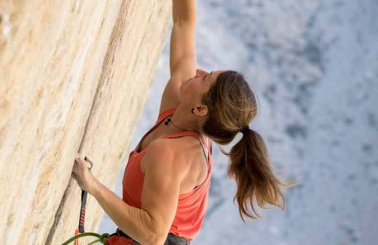 Babsi Zangerl commits Everything is Karate (8c + / 9a) to Pine Creek