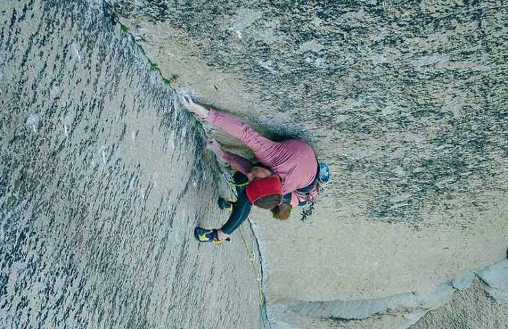 Babsi Zangerl climbs the Pre-Muir Wall in the Yosemite Valley