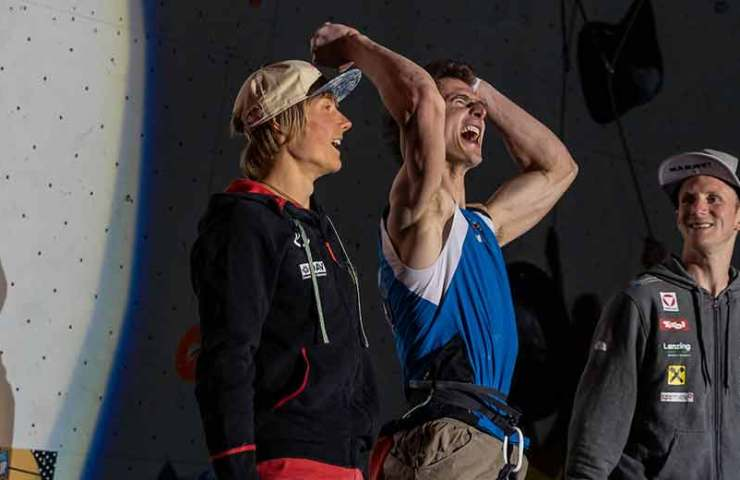 Adam Ondra und Chaehyun Seo gewinnen Gold am IFSC Weltcup in Chamonix